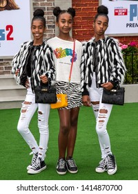 "Los Angeles, CA - June 02, 2019: Jessie Combs, Chance Combs, D'Lila Combs (the daughters of Sean Combs) attend the Premiere Of Universal Pictures' ""The Secret Life Of Pets 2"""