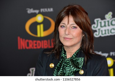 "LOS ANGELES, CA - June 05, 2018: Catherine Keener at the premiere for ""Incredibles 2"" at the El Capitan Theatre"