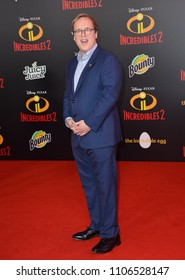"LOS ANGELES, CA - June 05, 2018: Brad Bird at the premiere for ""Incredibles 2"" at the El Capitan Theatre"