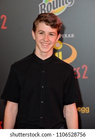 "LOS ANGELES, CA - June 05, 2018: Ethan Wacker at the premiere for ""Incredibles 2"" at the El Capitan Theatre"