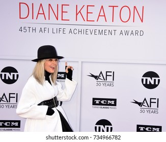 LOS ANGELES, CA - June 08, 2017: Diane Keaton at the AFI Life Achievement Award Gala honoring actress Diane Keaton at the Dolby Theatre