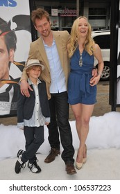 """LOS ANGELES, CA - JUNE 12, 2011: Anne Heche & boyfriend James Tupper & her son Homer Heche Laffoon at the premiere of """"Mr. Popper's Penguins"""" at Grauman's Chinese Theatre"""