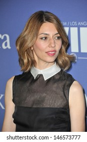 LOS ANGELES, CA - JUNE 12, 2013: Sofia Coppola at the Women in Film 2013 Crystal + Lucy Awards at the Beverly Hilton Hotel.
