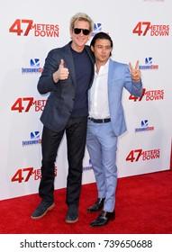 "LOS ANGELES, CA. June 12, 2017: Matthew Modine & Yani Gellman at the Los Angeles premiere for ""47 Meters Down"" at the Regency Village Theatre, Westwood."