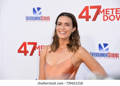 "LOS ANGELES, CA. June 12, 2017: Mandy Moore at the Los Angeles premiere for ""47 Meters Down"" at the Regency Village Theatre, Westwood."