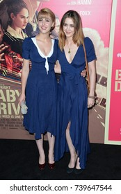 "LOS ANGELES, CA. June 14, 2017: Yvonne Zima & Madeline Zima at the Los Angeles premiere for ""Baby Driver"" at the Ace Hotel Downtown."