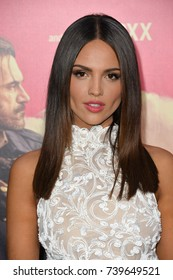 "LOS ANGELES, CA. June 14, 2017: Eiza Gonzalez at the Los Angeles premiere for ""Baby Driver"" at the Ace Hotel Downtown."