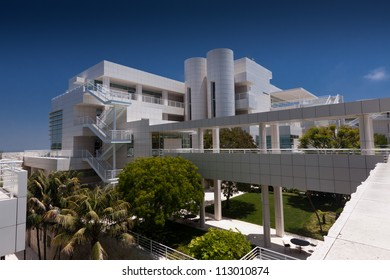 LOS ANGELES, CA - JUNE 16, 2012:  The Getty Center's architecture is part of the attraction to 1.3 million annual visitors in Los Angeles, CA; June 16,2012.