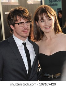 """LOS ANGELES, CA - JUNE 21, 2012: Emily Mortimer & John Gallagher Jr. at the Los Angeles premiere for HBO's new series """"The Newsroom"""" at the Cinerama Dome, Hollywood."""