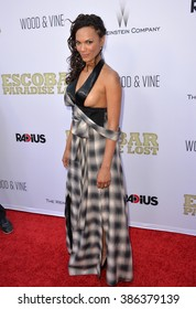 """LOS ANGELES, CA - JUNE 22, 2015: Actress Amber Dixon Brenner at the Los Angeles premiere of """"Escobar: Paradise Lost"""" at the Arclight Theatre, Hollywood."""