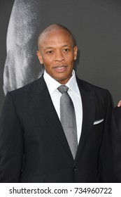 """LOS ANGELES, CA - June 22, 2017: Dr. Dre at the premiere for the HBO documentary series """"The Defiant Ones"""" at the Paramount Theatre. Los Angeles,"""