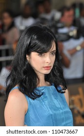 """LOS ANGELES, CA - JUNE 25, 2009: Krysten Ritter at the Los Angeles premiere of  """"Bruno"""" at Grauman's Chinese Theatre, Hollywood."""