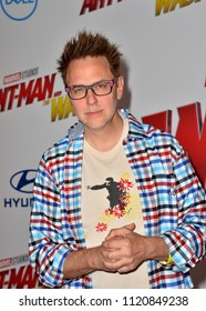"LOS ANGELES, CA - June 25, 2018: James Gunn at the premiere for ""Ant-Man and the Wasp"" at the El Capitan Theatre"