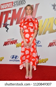 """LOS ANGELES, CA - June 25, 2018: Judy Greer at the premiere for """"Ant-Man and the Wasp"""" at the El Capitan Theatre"""