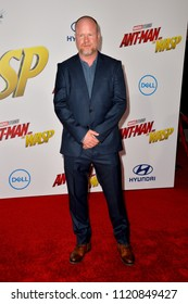 """LOS ANGELES, CA - June 25, 2018: Joss Whedon at the premiere for """"Ant-Man and the Wasp"""" at the El Capitan Theatre"""