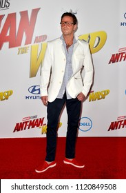 """LOS ANGELES, CA - June 25, 2018: Cameron Douglas at the premiere for """"Ant-Man and the Wasp"""" at the El Capitan Theatre"""