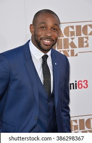 """LOS ANGELES, CA - JUNE 25, 2015: Stephen tWitch Boss at the world premiere of his movie """"Magic Mike XXL"""" at the TCL Chinese Theatre, Hollywood."""