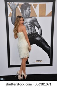 """LOS ANGELES, CA - JUNE 25, 2015: Actress Sofia Vergara at the world premiere of """"Magic Mike XXL"""" at the TCL Chinese Theatre, Hollywood."""