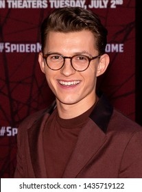 "Los Angeles, CA - June 26, 2019: Tom Holland attends the premiere of Sony Pictures ""Spider-Man Far From Home"" held at TCL Chinese Theatre"