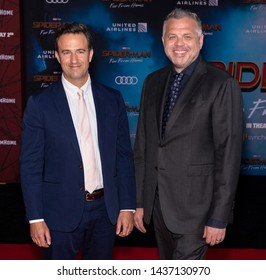 """Los Angeles, CA - June 26, 2019: Chris McKenna and Erick Sommers attend the premiere of Sony Pictures """"Spider-Man Far From Home"""" held at TCL Chinese Theatre"""