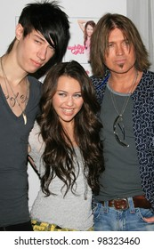 """LOS ANGELES, CA - JUNE 26: Trace, Miley Cyrus at the Disney Channel free concert by Miley Cyrus to celebrate the DVD release of """"Hannah Montana: Pop Star Profile"""" in Los Angeles, CA on June 26, 2007"""