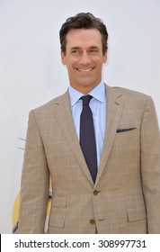 """LOS ANGELES, CA - JUNE 27, 2015: Jon Hamm at the Los Angeles premiere of his movie """"Minions"""" at the Shrine Auditorium."""