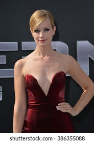 "LOS ANGELES, CA - JUNE 28, 2015: Actress Beth Behrs at the Los Angeles premiere of ""Terminator Genisys"" at the Dolby Theatre, Hollywood."