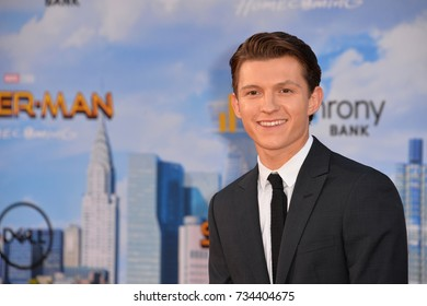 "LOS ANGELES, CA - June 28, 2017: Tom Holland at the world premiere for ""Spider-Man: Homecoming"" at the TCL Chinese Theatre"