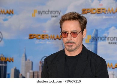 "LOS ANGELES, CA. June 28, 2017: Actor Robert Downey Jr. at the world premiere of ""Spider-Man: Homecoming"" at the TCL Chinese Theatre, Hollywood."