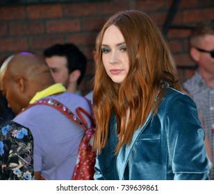 "LOS ANGELES, CA. June 28, 2017: Actress Karen Gillan at the world premiere of ""Spider-Man: Homecoming"" at the TCL Chinese Theatre, Hollywood."