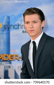 """LOS ANGELES, CA. June 28, 2017: Actor Tom Holland at the world premiere of """"Spider-Man: Homecoming"""" at the TCL Chinese Theatre, Hollywood."""