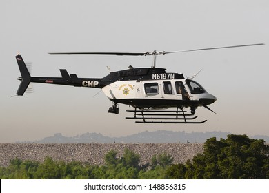 LOS ANGELES, CA. -  JUNE 29: American Heroes Air Show - California Highway Patrol - Bell 206-L4 on June 29, 2013 in Los Angeles, CA.