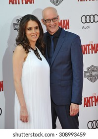 """LOS ANGELES, CA - JUNE 29, 2015: Director Peyton Reed & wife Sheila at the world premiere of his movie """"Ant-Man"""" at the Dolby Theatre, Hollywood."""