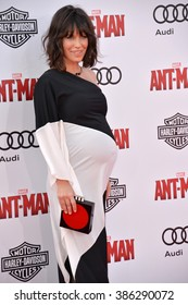 """LOS ANGELES, CA - JUNE 29, 2015: Actress Evangeline Lilly at the world premiere of her movie """"Ant-Man"""" at the Dolby Theatre, Hollywood."""