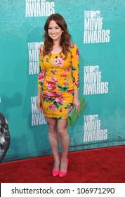 LOS ANGELES, CA - JUNE 4, 2012: Ellie Kemper at the 2012 MTV Movie Awards at Universal Studios, Hollywood. June 4, 2012  Los Angeles, CA