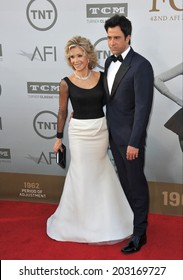 LOS ANGELES, CA - JUNE 5, 2014: Jane Fonda & actor son Troy Garity at the 2014 American Film Institute's Life Achievement Awards honoring Jane Fonda, at the Dolby Theatre, Hollywood.