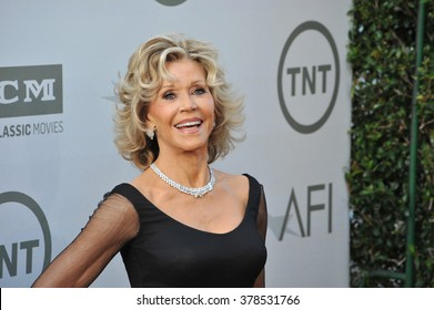 LOS ANGELES, CA - JUNE 5, 2014: Jane Fonda at the 2014 American Film Institute's Life Achievement Awards honoring Jane Fonda, at the Dolby Theatre, Hollywood.