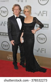 LOS ANGELES, CA - JUNE 5, 2014: Felicity Huffman & husband William H. Macy at the 2014 American Film Institute's Life Achievement Awards honoring Jane Fonda, at the Dolby Theatre, Hollywood.