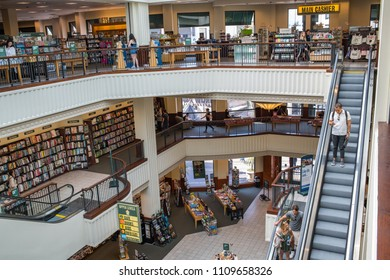 Los Angeles, CA: June 7, 2018:  A view of an interior of a Barnes and Noble in the Los Angeles area. Barnes and Noble is a Fortune 500 company.