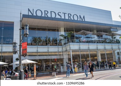 Los Angeles, CA: June 7, 2018:  Nordstrom store at The Grove shopping mall in the Los Angeles area. Nordstrom is a luxury fashion retailer that was founded in 1901.