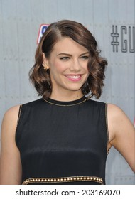 LOS ANGELES, CA - JUNE 7, 2014: Lauren Cohan at Spike TV's 2014 Guys Choice Awards at Sony Studios, Culver City.