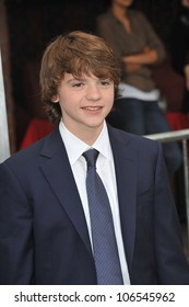 """LOS ANGELES, CA - JUNE 8, 2011: Joel Courtney at the Los Angeles premiere of his new movie """"Super 8"""" at the Regency Village Theatre, Westwood. June 8, 2011  Los Angeles, CA"""
