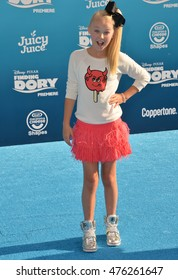 "LOS ANGELES, CA. June 8, 2016: Actress JoJo Siwa at the world premiere for ""Finding Dory"" at the El Capitan Theatre, Hollywood."