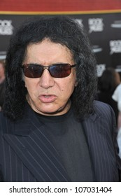 "LOS ANGELES, CA - JUNE 9, 2012: ""KISS"" star Gene Simmons at the world premiere of ""Rock of Ages"" at Grauman's Chinese Theatre, Hollywood. June 9, 2012  Los Angeles, CA"