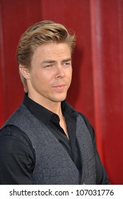 """LOS ANGELES, CA - JUNE 9, 2012: Derek Hough at the world premiere of """"Rock of Ages"""" at Grauman's Chinese Theatre, Hollywood. June 9, 2012  Los Angeles, CA"""