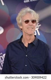 """LOS ANGELES, CA - JUNE 9, 2015: Composer Stewart Copeland at the Los Angeles premiere of Disney-Pixar's """"Inside Out"""" at the El Capitan Theatre, Hollywood."""