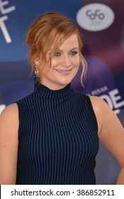 """LOS ANGELES, CA - JUNE 9, 2015: Amy Poehler at the Los Angeles premiere of her movie Disney-Pixar's """"Inside Out"""" at the El Capitan Theatre, Hollywood."""