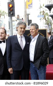 LOS ANGELES, CA - MAR 2: Andrea Bocelli and David Foster at a ceremony for Andrea Bocelli who was honored with a star on the Walk of Fame in Los Angeles, California on March 2, 2010