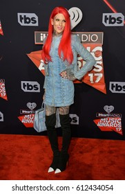 LOS ANGELES, CA. March 05, 2017: Jeffree Star at the 2017 iHeartRadio Music Awards at The Forum, Los Angeles.