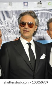 """LOS ANGELES, CA - MARCH 1, 2010: Andrea Bocelli at the premiere of his movie """"Andrea Bocelli: The Story Behind the Voice"""" at Grauman's Chinese Theatre, Hollywood."""